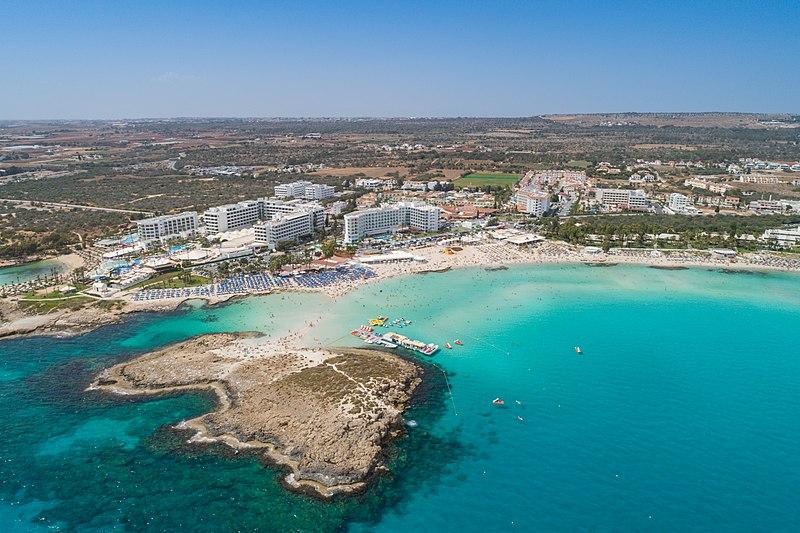 Zypern - Ayia Napa - Nissi Beach vor der Corona Pandemie.