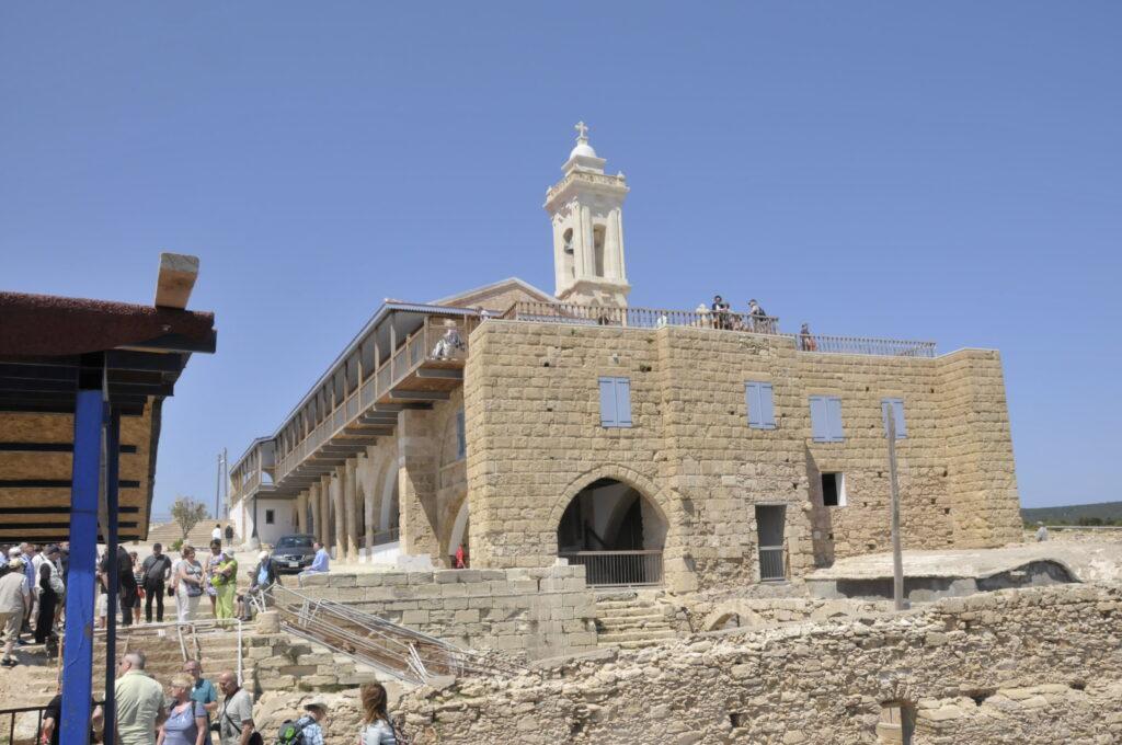 Das restaurierte Kloster Apostolos Andreas auf der Karpasshalbinsel in türkisch besetzten Norden der Insel Zypern.