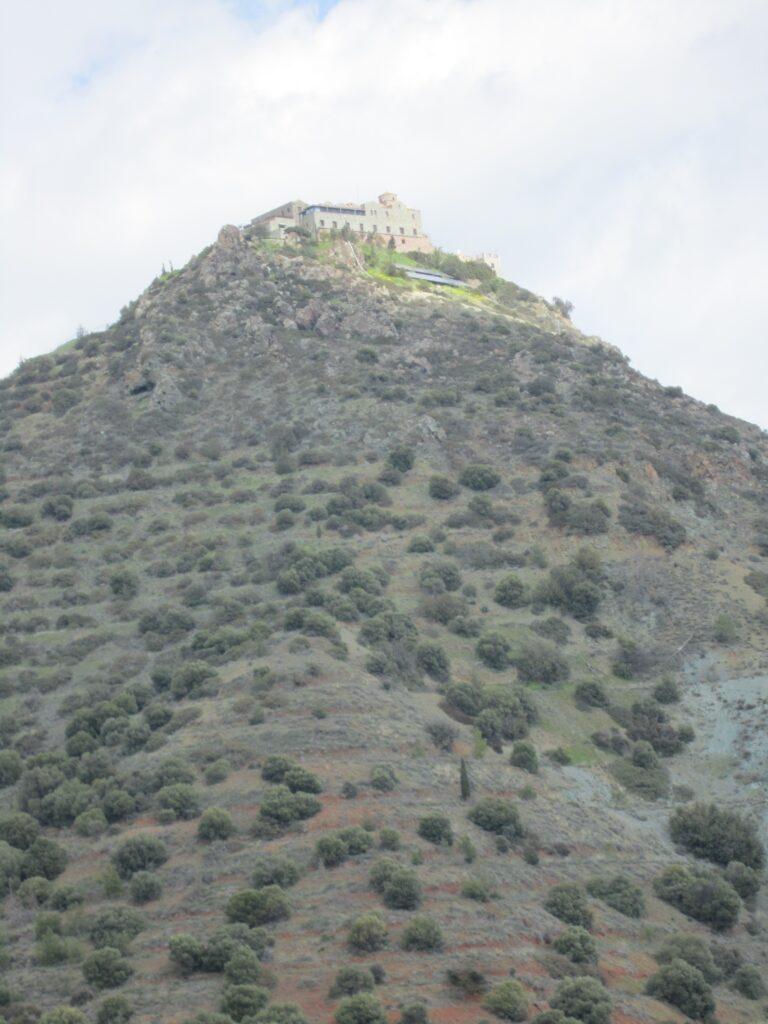 Der Berg des Kreuzes Stavrovouni mit dem gleichnamigen Kloster