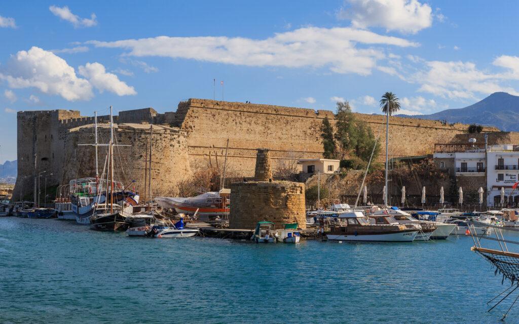 Die Festung am Hafen von Kyrenia wurde von den Franken 1192-1489 gebaut.