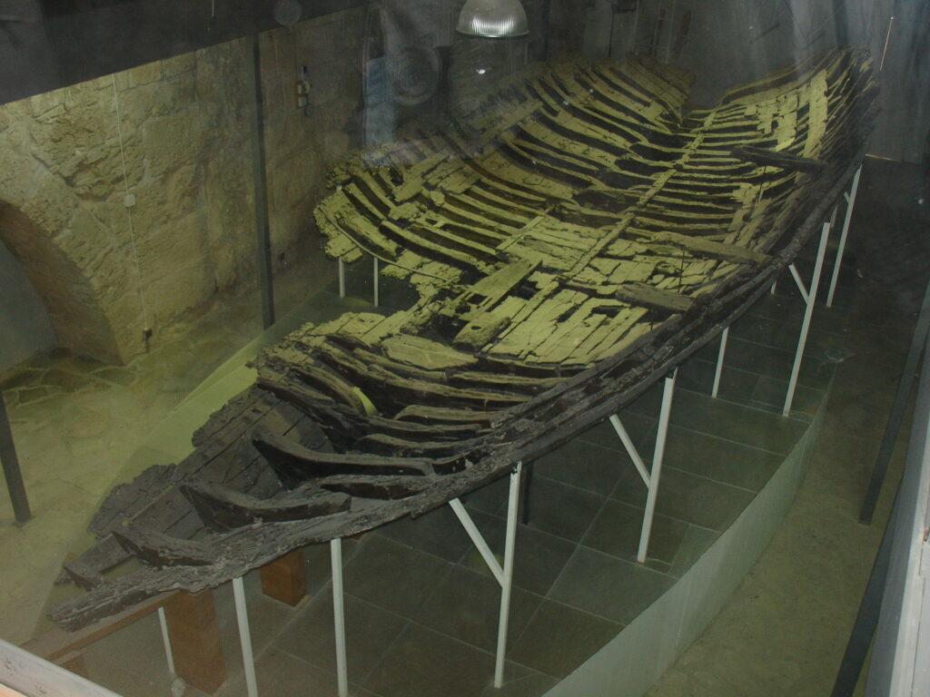 Das Kyrenis Schiff, dass in der Fetung von Kyrenia ausgestellt ist.