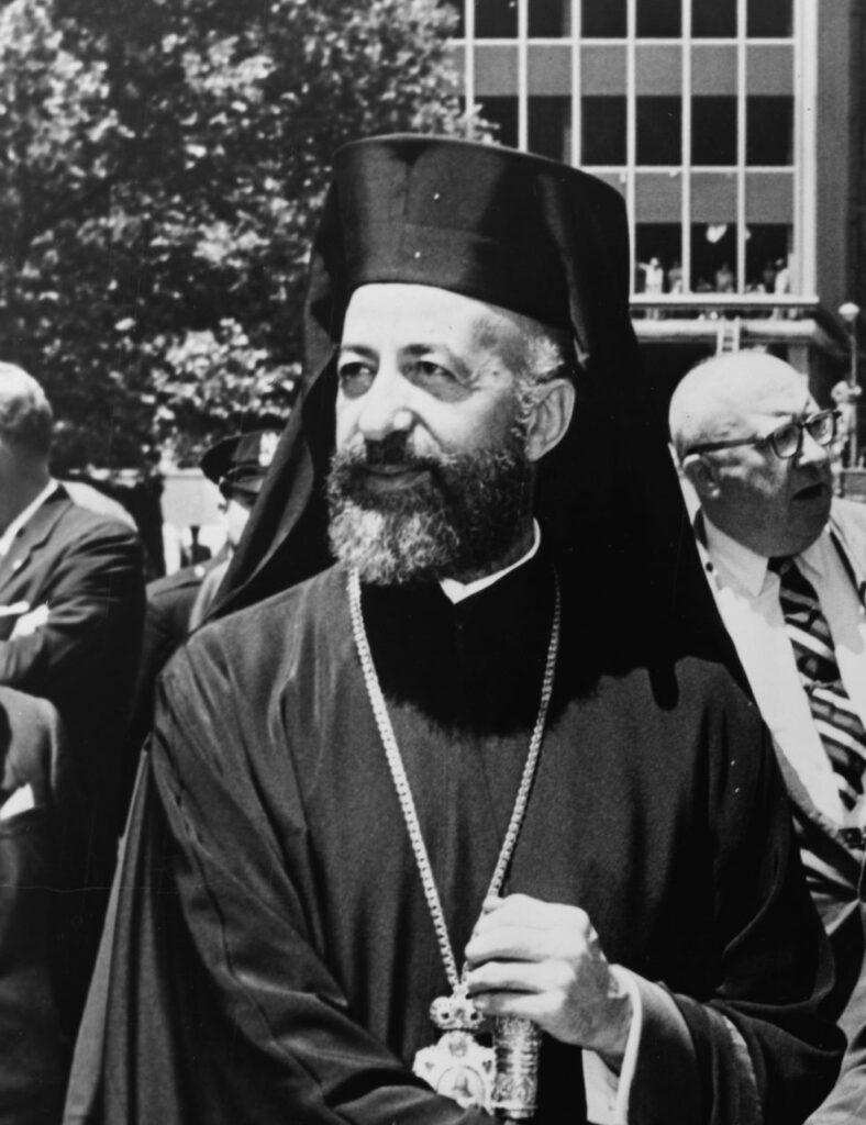 Zyperns erster Präsident Makarios III nach der Unabhängigkeit von den Briten
