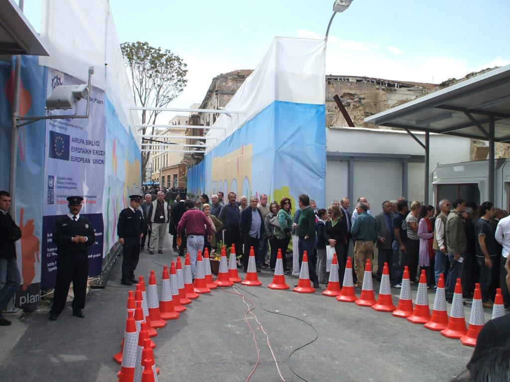 Zypern - Nikosia - Öffnung der Ledrastreet als Übergang zwischen den Süden und dem Norden Zyperns