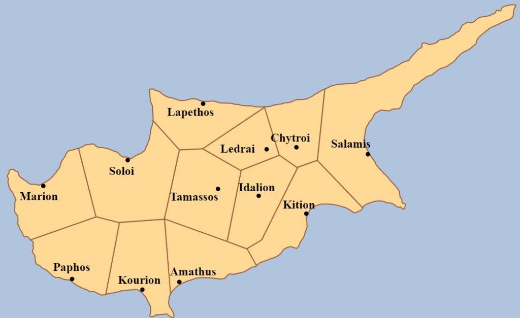 Zypern - historische Königreiche vor Christus