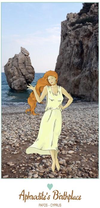 Zypern - Paphos - Ausschnitt aus der App Aphrodite´s Birthplace
