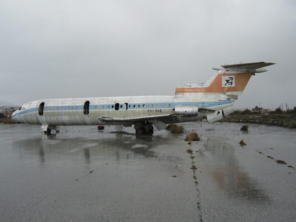zurückgelassene Trident auf dem Flughafen Nikosia